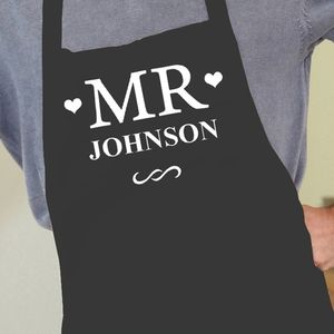 Personalised 'Mr' Apron - kitchen accessories