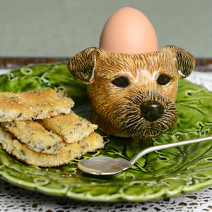 Border Terrier Egg Cup - egg cups & cosies