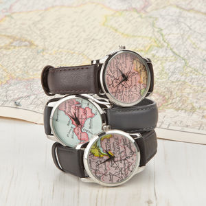 Personalised Map Location Watch Ladies - womens