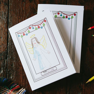 Christmas Draw As An Angel Card