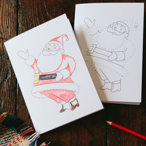 Christmas Dot To Dot Santa Card