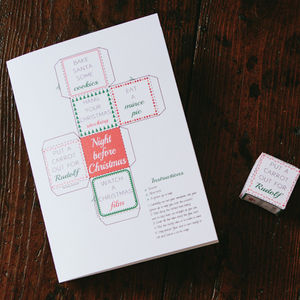 Night Before Christmas Dice Activity Card