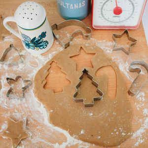 Christmas Biscuit Cookie Cutters Set Of Six - home sale
