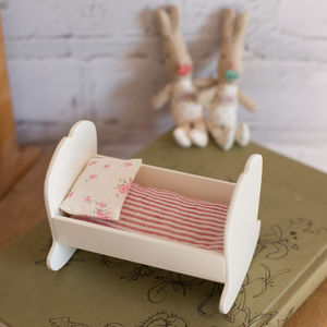 Off White Baby Cradle For Baby Bunnies And Rabbits - children's furniture