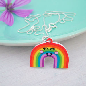 Rainbow Girls Silver Necklace