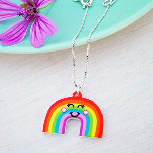 Rainbow Girls Silver Necklace - necklaces & pendants