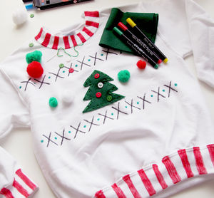 Childrens Make Your Own Christmas Jumper Craft Kit - children's christmas clothing