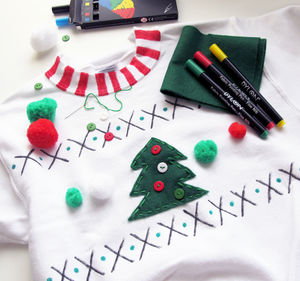 Adults Make Your Own Christmas Jumper Craft Kit - christmas entertaining