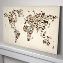 Dogs World Map Art Print