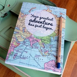 'Greatest Adventure' Journal Back To University Gift - office & study