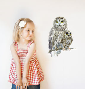 Woodland Owls Wall Sticker - home accessories