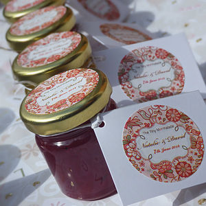 Personalised Jam Jar Wedding Favours - cakes & treats