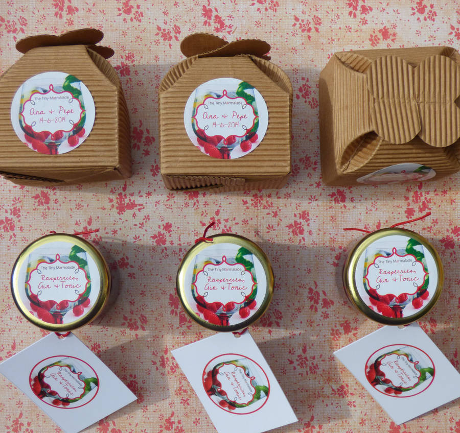 Personalised Mini Jam Wedding Favours By The Tiny Marmalade