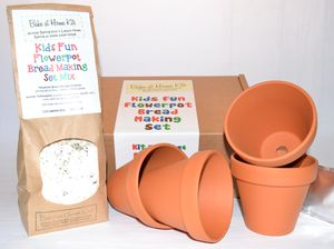 Kids Fun Seeded Flowerpot Bread Making Kit - bread & cheese