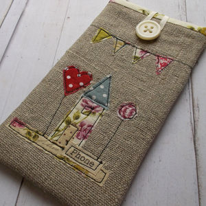 Handmade Linen iPhone Case - phone & tablet covers & cases