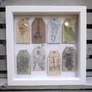 Box Framed Paris Wooden Labels