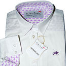 Pure White Oxford Cotton Horse And Rider Shirt
