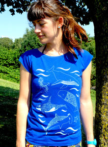Under The Sea Bamboo Womens T Shirt - women's fashion