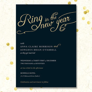 Golden Romance Invitation