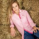 Pink Candy Stripe Horse And Rider Shirt