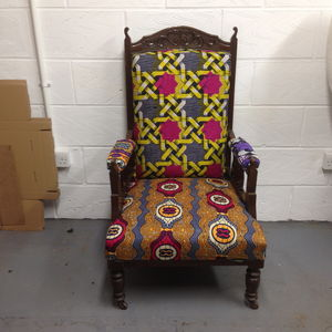 Vintage Tribal Arm Chair - furniture