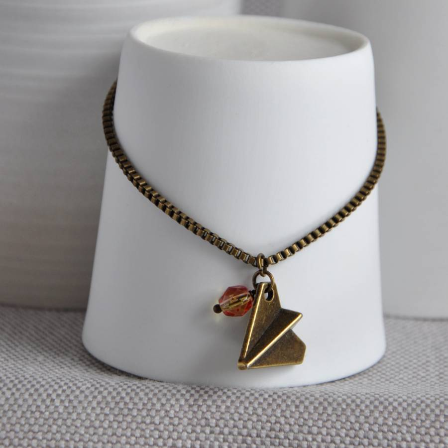 Charm Bracelet With Paper Aeroplane