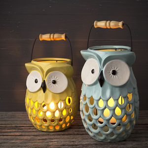 Bright Owl Lantern - candles & candlesticks