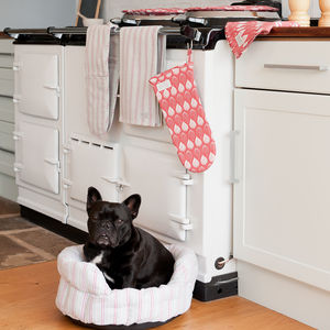 Malvern Grey Red Pet Bed - beds & sleeping
