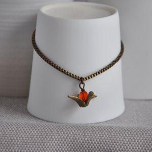 Charm Bracelet With Brass Crane - charm jewellery