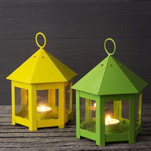 Bright Spring Garden Lantern - candles & candlesticks