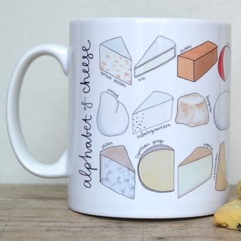 Cheese Alphabet Mug