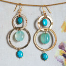 Sade Turquoise And Disc Earrings