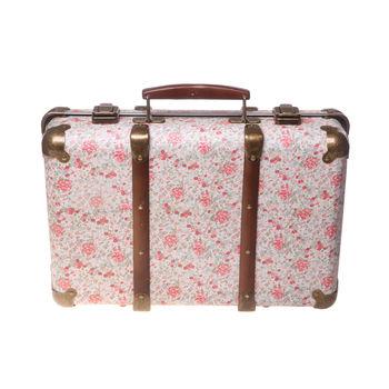 Vintage Style Floral Suitcase