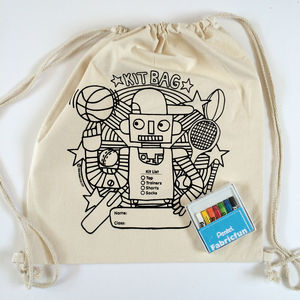 Colour In Kit Bag - boys' bags & wallets