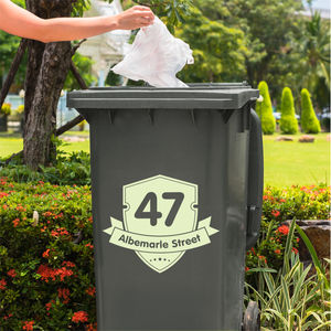 Set Of Two Wheelie Bin Vinyl Stickers - wall stickers