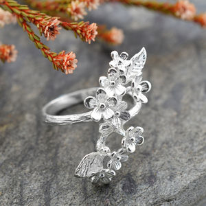 Silver Forget Me Not Cluster Ring - rings