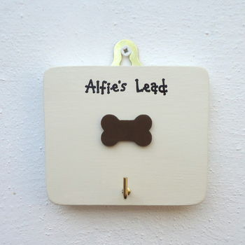 Personalised Dog's Lead Hook With Bone