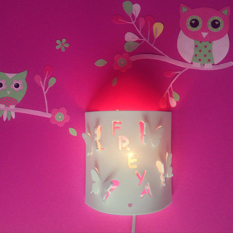 Wall Night Light Target : personalised butterfly wall night light by kirsty shaw notonthehighstreet.com