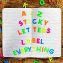 A Z Sticky Letters