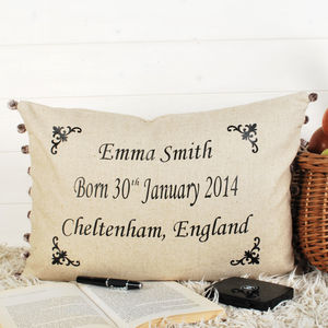 Christening Cushion - new baby gifts