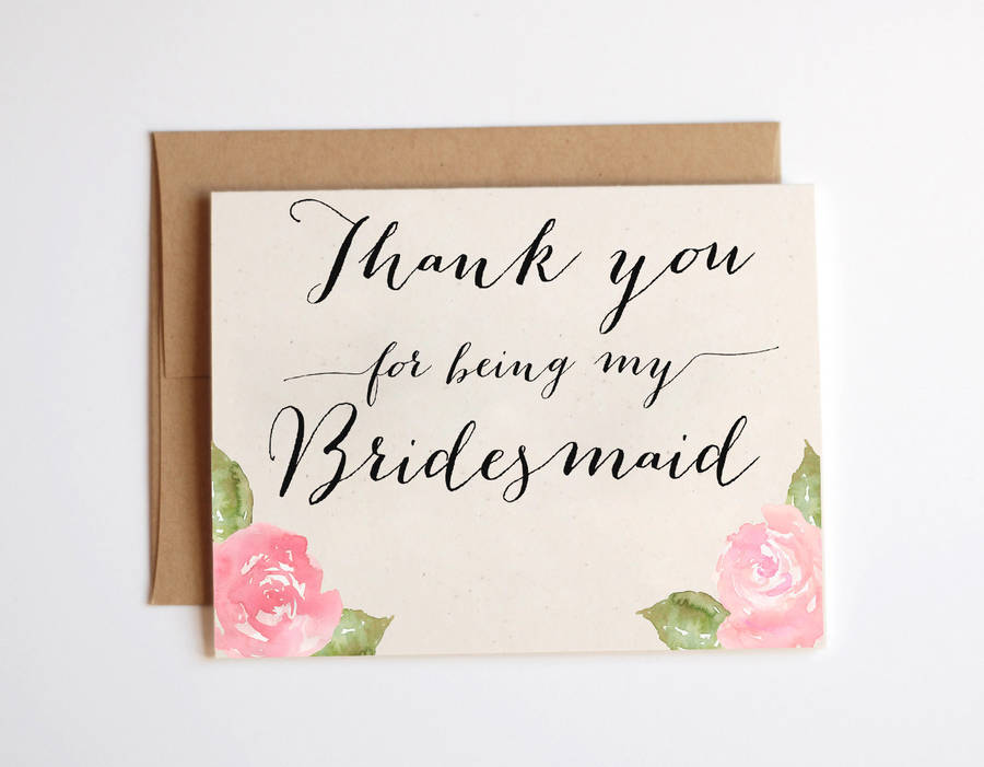 Thank You For Being My Bridesmaid Card By Heres To Us