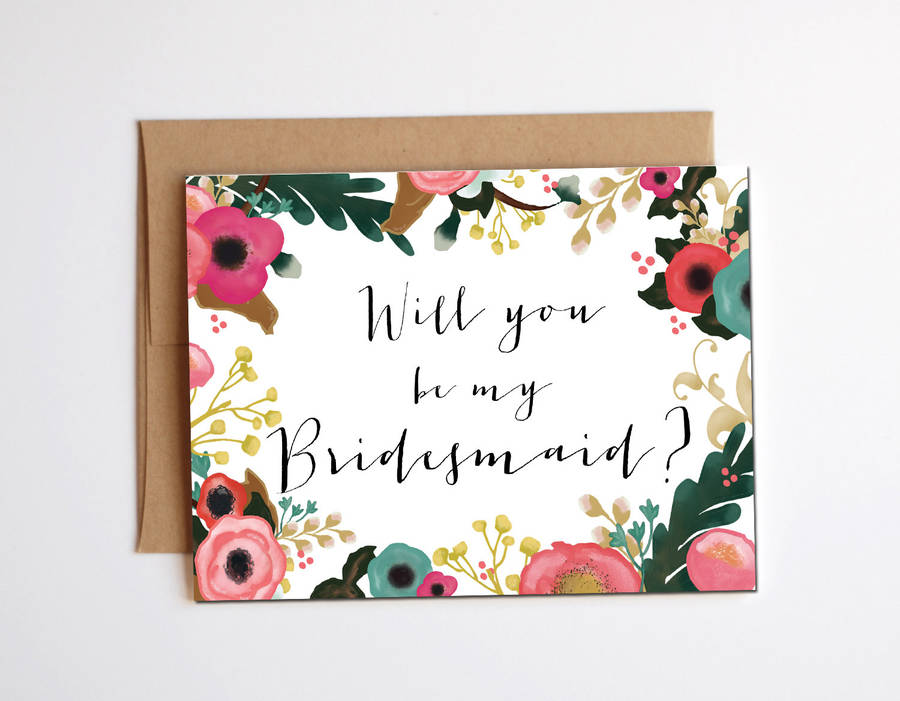 Will You Be My Bridesmaid Card By Heres To Us Notonthehighstreetcom