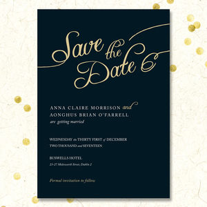 Golden Romance Save The Date