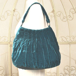 Large Velvet Slouchy Bag - evening bags