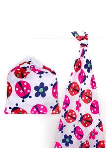 Ladybird Print Cotton Muslin Swaddle
