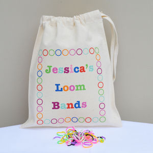 Personalised 'Loom Band' Bag - children's accessories
