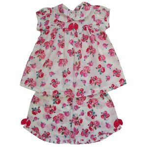 Pink Rose Top And Shorts Set - clothing