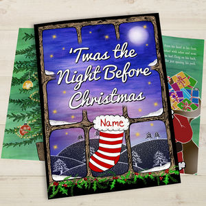 Twas The Night Before Christmas Personalised Book - christmas eve