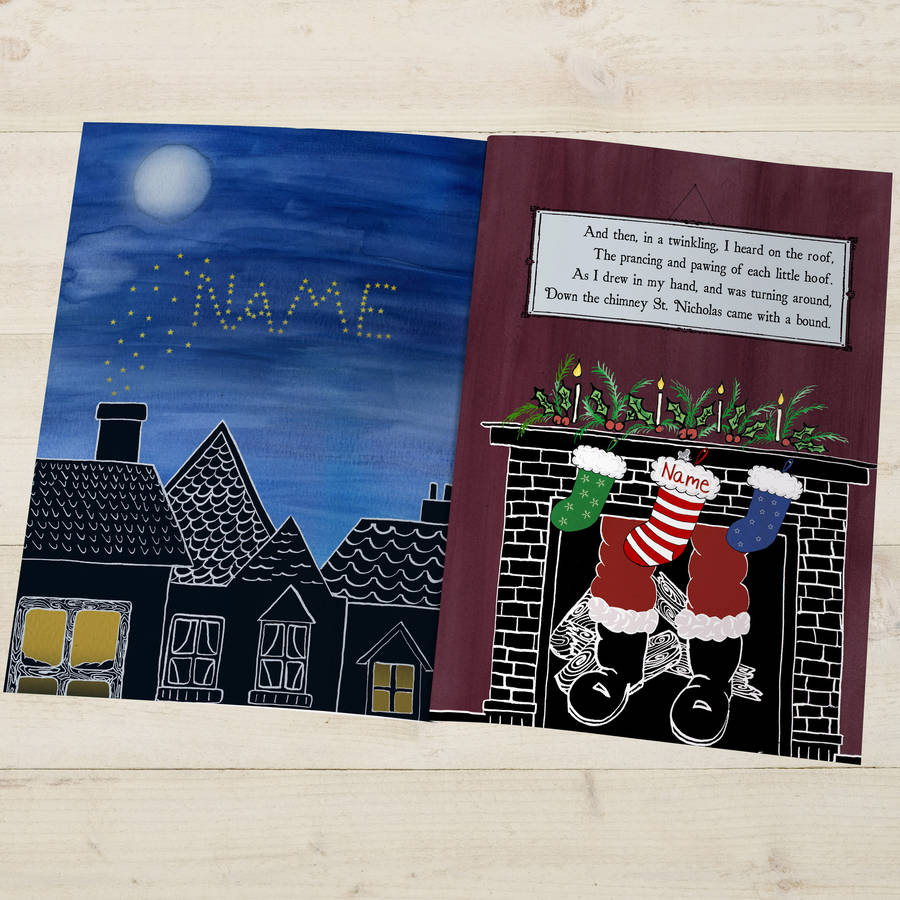 Twas The Night Before Christmas Personalised Book By The ...