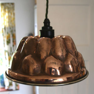 Copper Jelly Mould Light - dining room